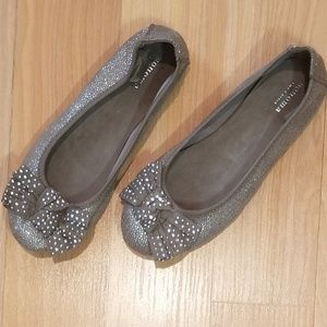 Girls SONOMA Taupe Sparkly Flats